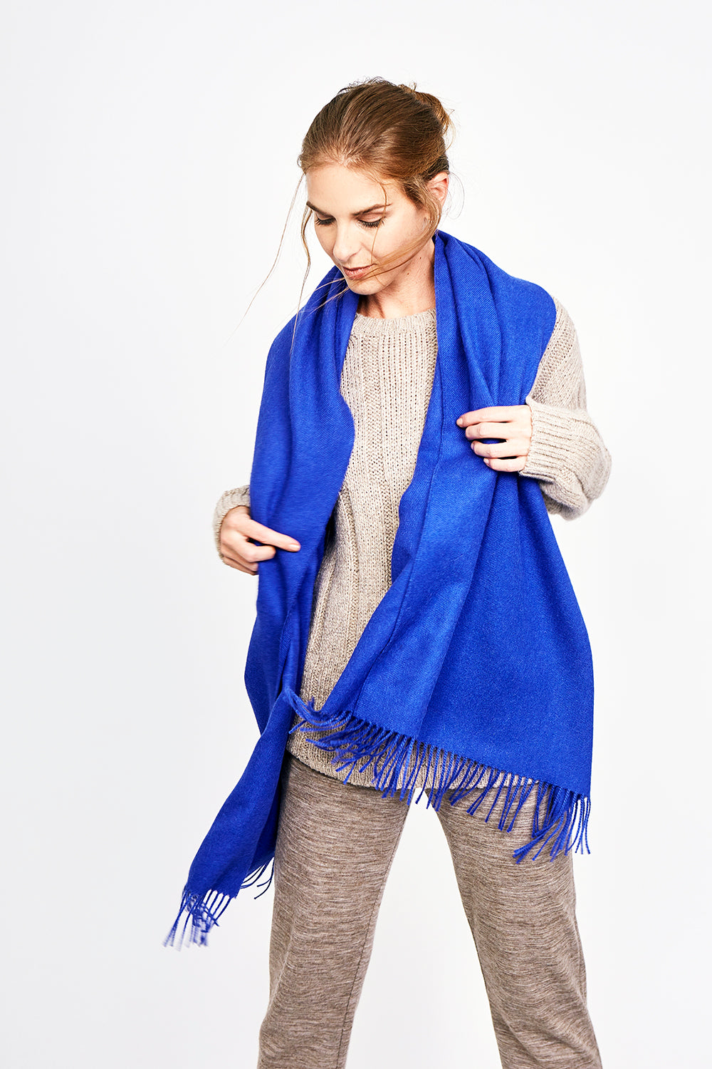 Brushed Fringed Shawl