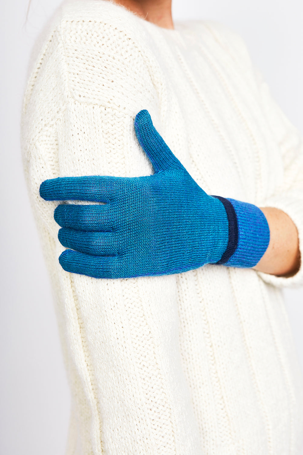 Rib-Knit Gloves
