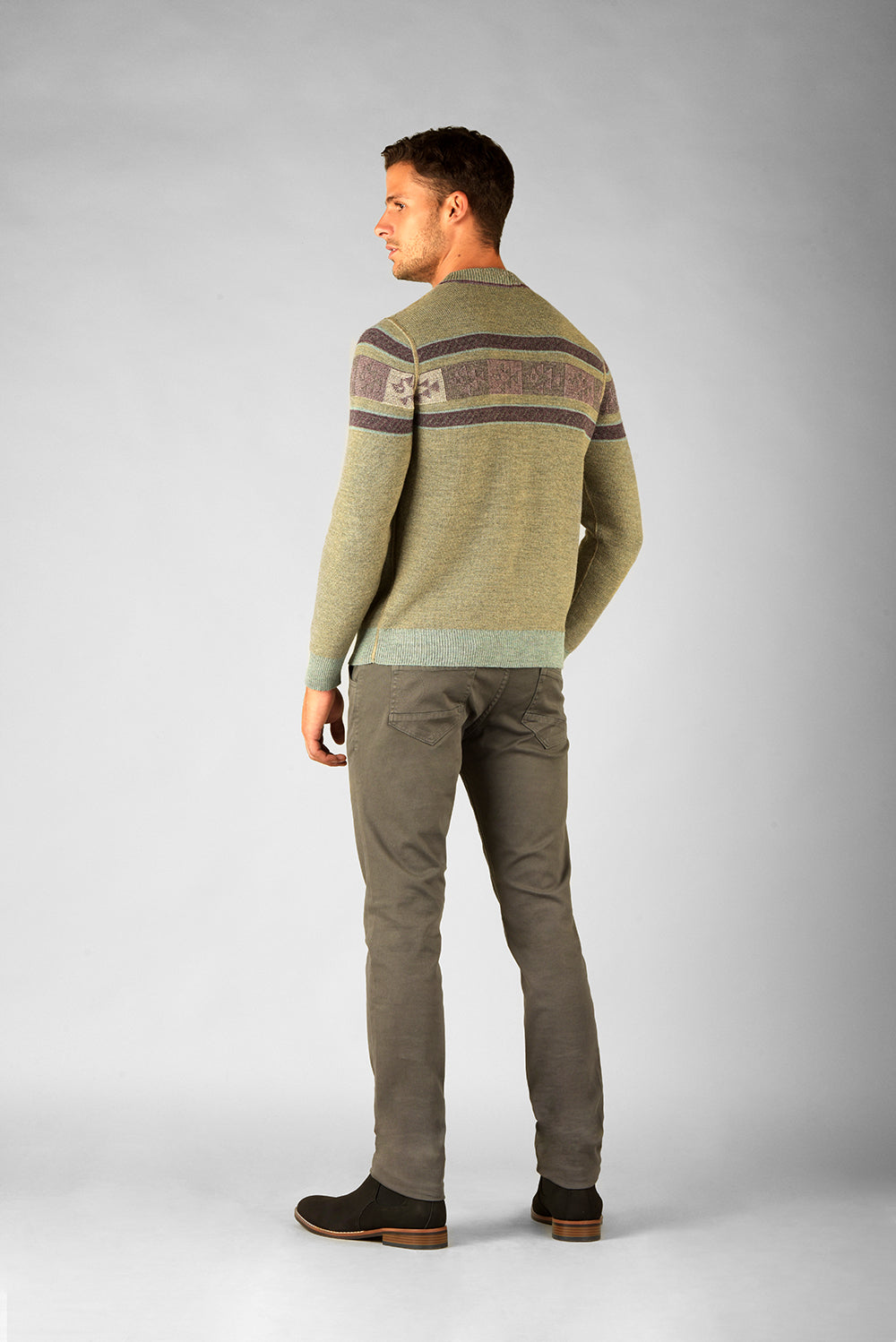Reversible Crew Neck Sweater