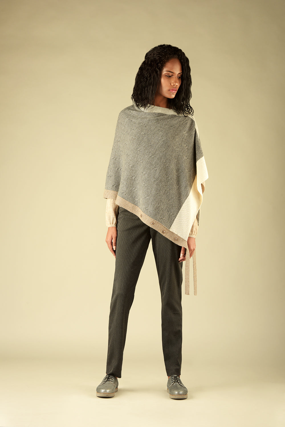 Button Front Poncho