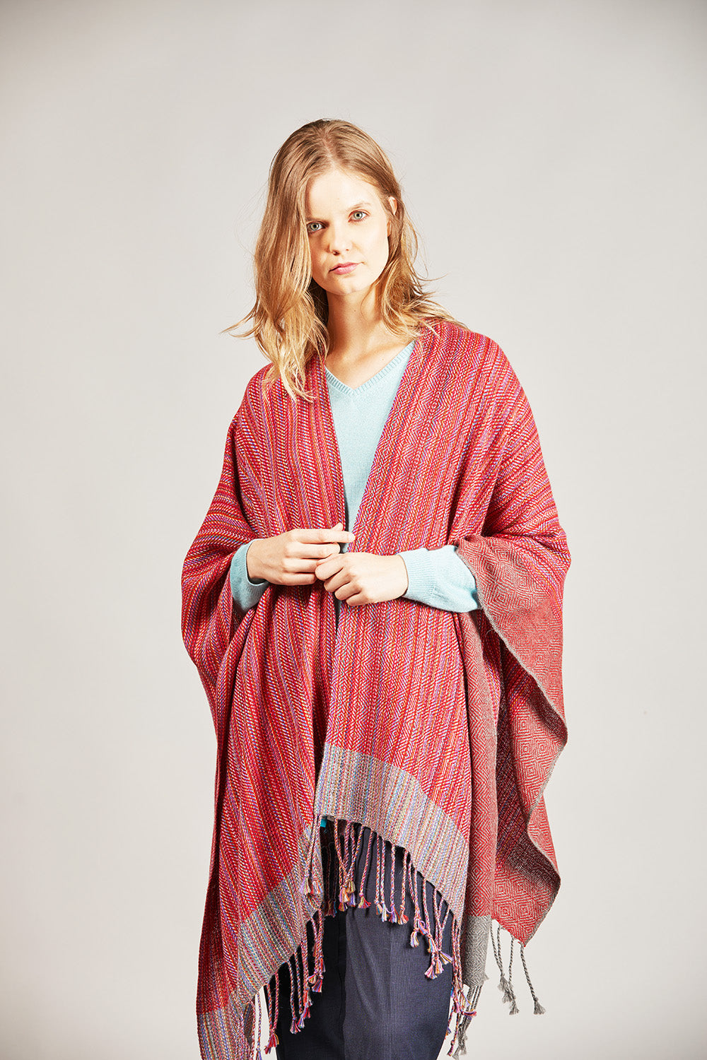 Striped Weave Cape