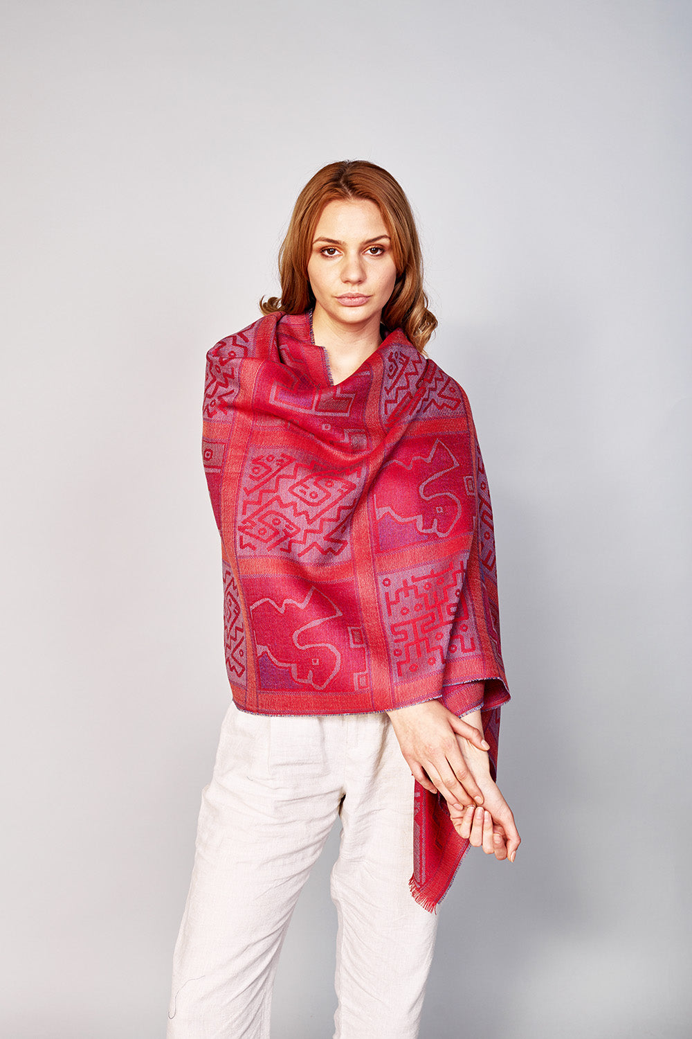 Chancay Little Windows Shawl