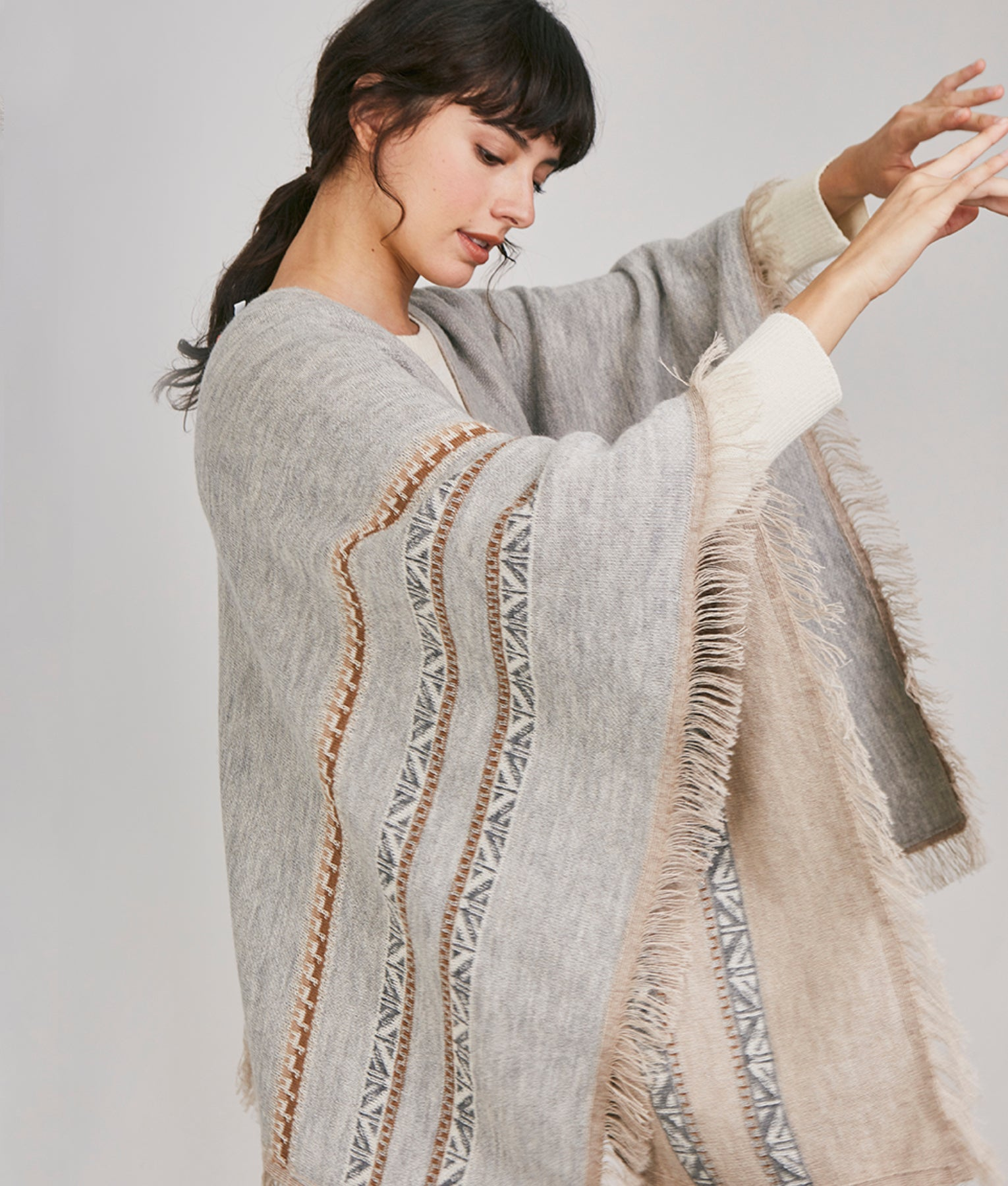 WANDERLUST THE JOURNEY PONCHO REVERSIBLE