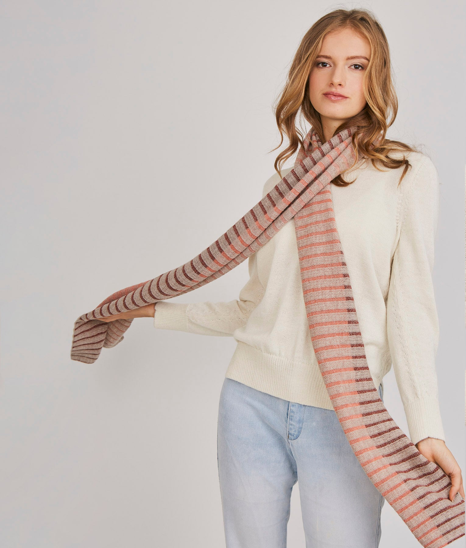 WANDERLUST RIBBED SCARF