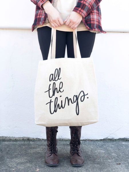 All The Things Canvas Tote