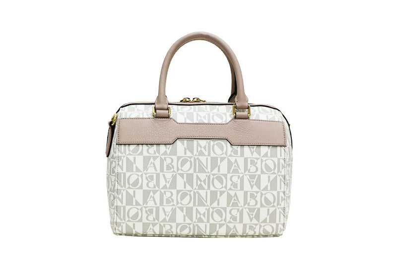Gemma Monogram Satchel Bag M