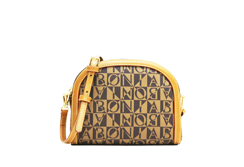 Christine Monogram Rounded Frame Crossbody