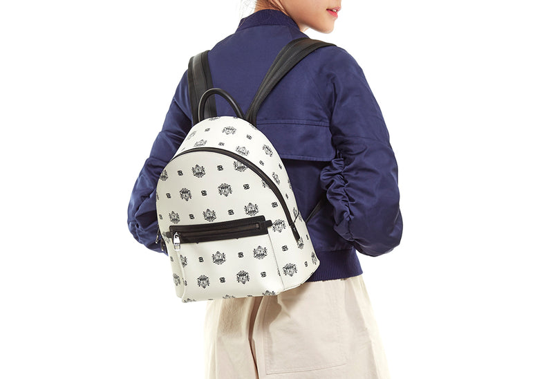 Ariel Backpack with Twin Lion Shield Motif S