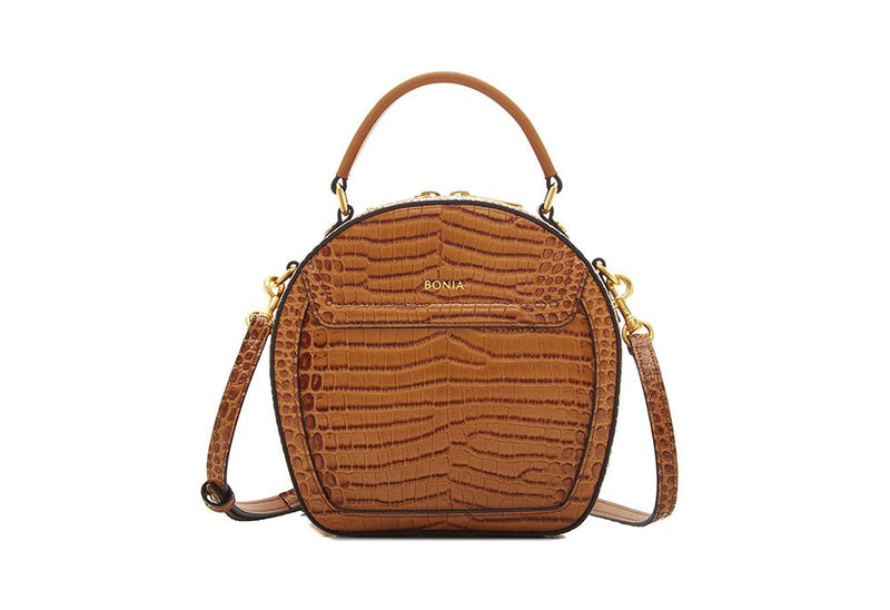 NR Croco Sonia Signature Satchel