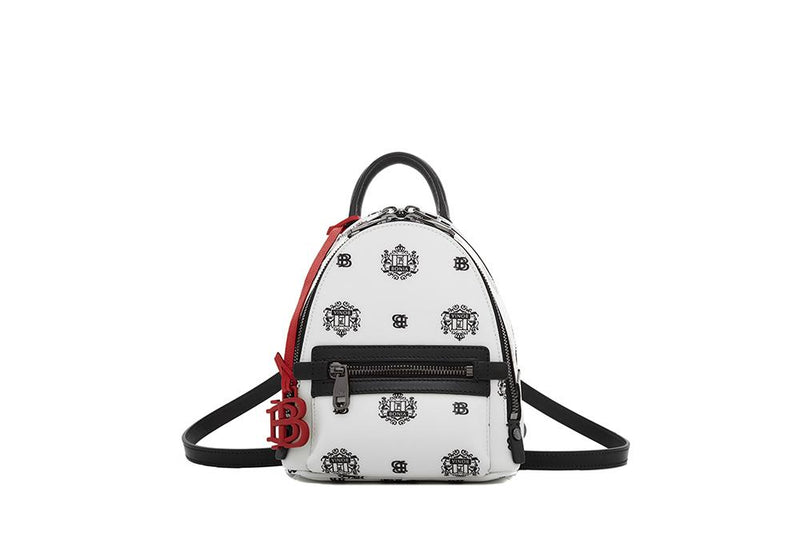Ariel Backpack with Twin Lion Shield Motif XS