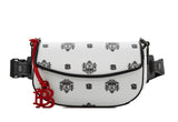 Ariel Belted Bag with Twin Lion Shield Motif