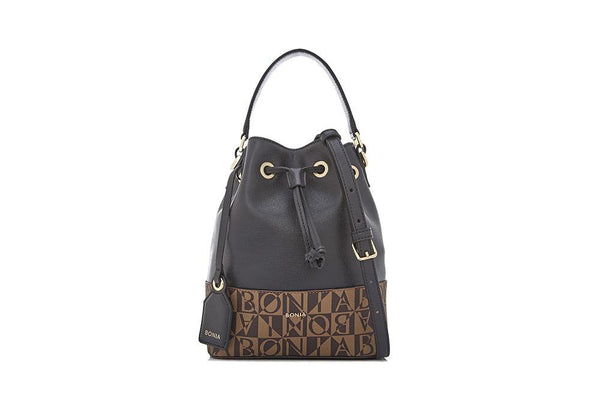 Sophia Duo Tone Monogram Bucket Bag
