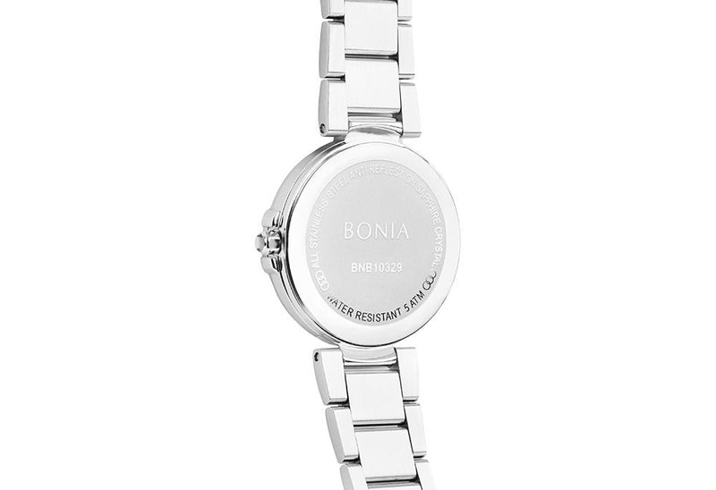 Silver & Black Noela Watch