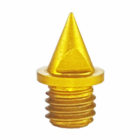 "Gold 1/4"" Pyramid Track Spikes - Pack of 20"
