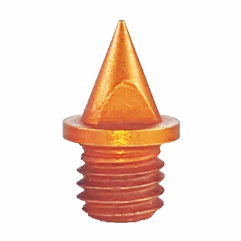 "Orange 1/4"" Pyramid Track Spikes - Pack of 20"