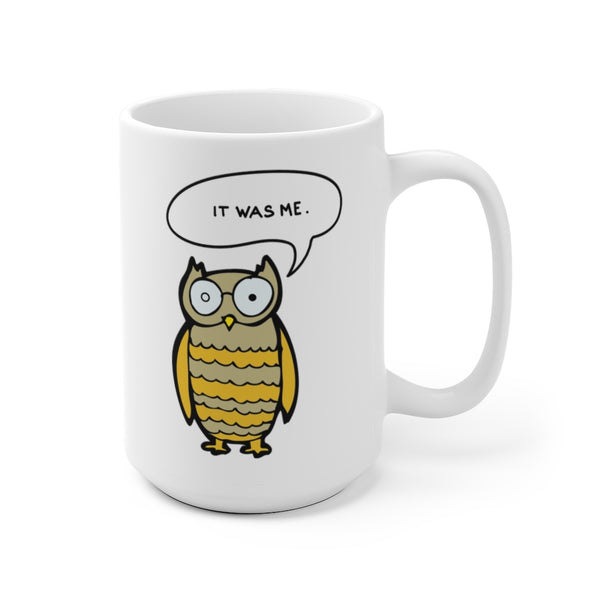 The OWL DID IT Staircase Peterson Case Mug