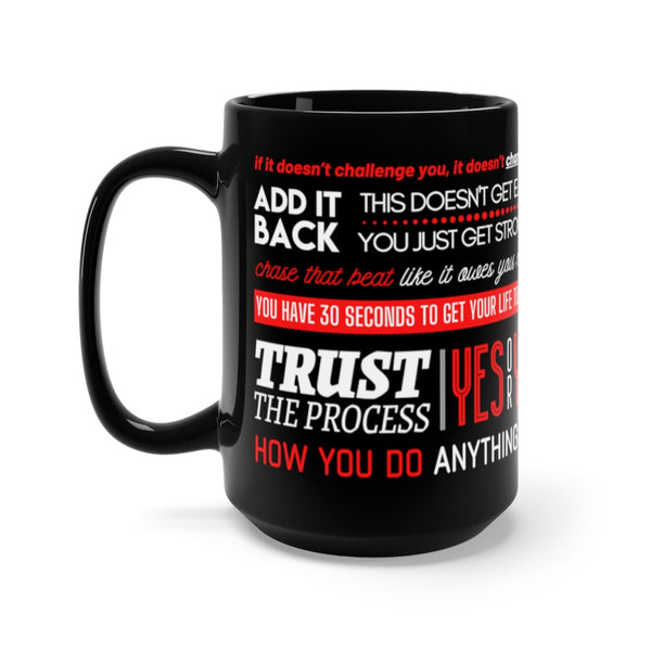 The REMIX Quotes - Black mug 15 oz - Motivational Quotes - Fitspiration