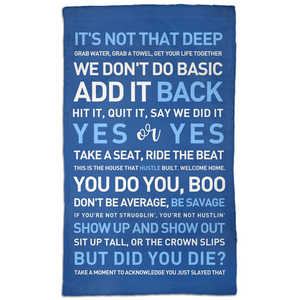 Mixed Quotes - Blue  Towel - Workout Towel