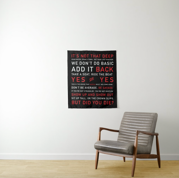 MIXED Instructor Quotes TAPESTRY (4 sizes)