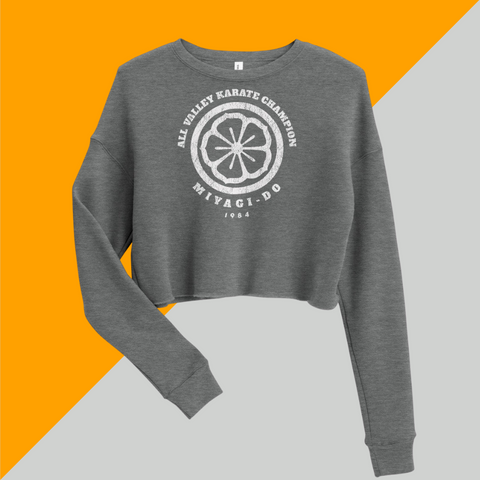 ALL VALLEY Karate CHAMPION Miyagi-Do 1984 Lotus Crop Sweatshirt