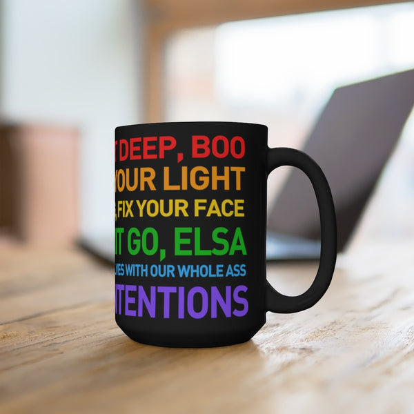 NOT That DEEP BOO Motivational Quotes Black Mug 15oz