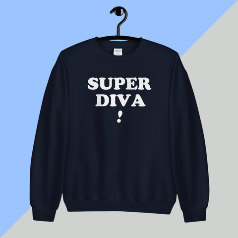 Unisex SUPER DIVA I Dissent SCOTUS, Ruth Bader Ginsburg | Women's Rights, Supreme Court Justice | Classic RBG Heavy Blend™ Crewneck Sweatshirt