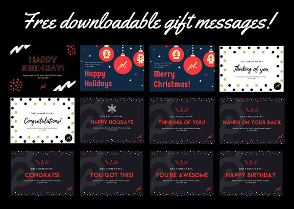 FREE Downloadable Gift Messages
