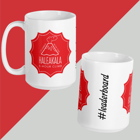 HALEAKALA CLIMB BADGE Mug with Leaderboard Name
