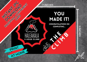 CONGRATS on THE CLIMB Haleakala Digital Instant Download