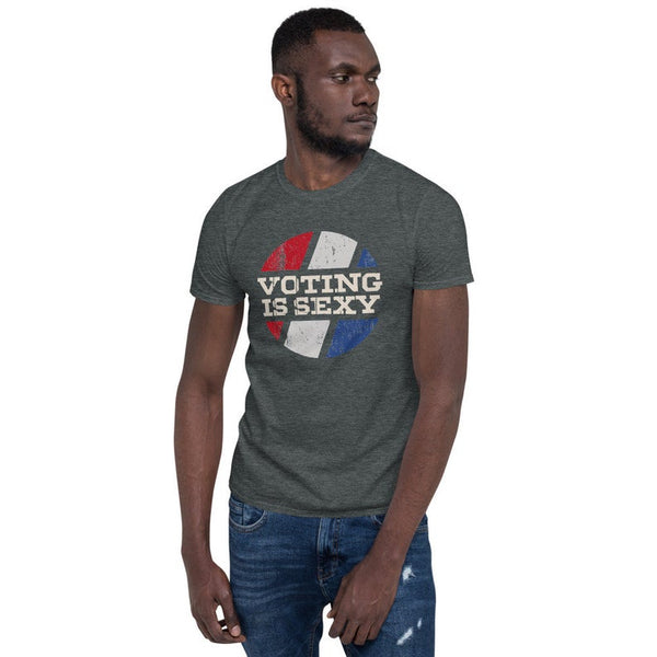 VOTING IS SEXY Short-Sleeve Unisex T-Shirt