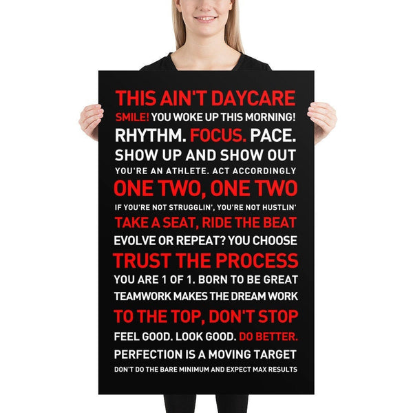 THIS AIN'T DAYCARE Poster 24x36 - Best Black Poster 2020