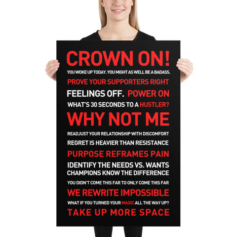 CROWN ON 24x36 Poster - Best Frame Poster 2020
