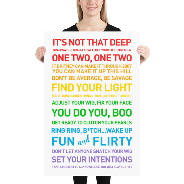 FIND YOUR LIGHT PRIDE 24x36 Poster - Clean & Explicit Poster