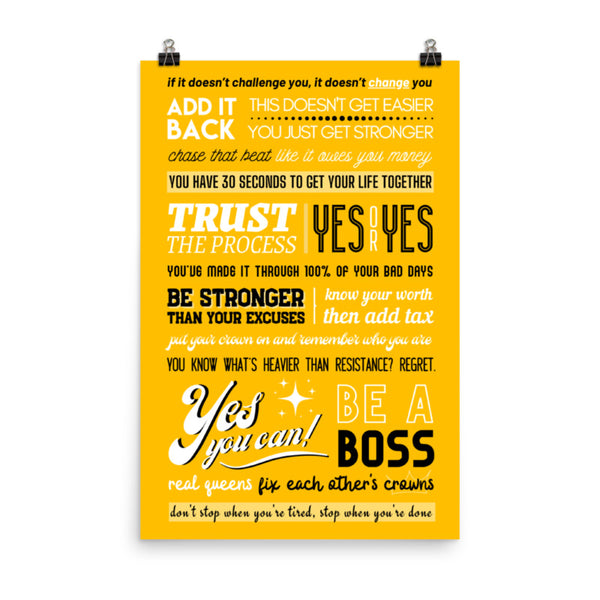 RE-Mixed Quotes Poster 24x36