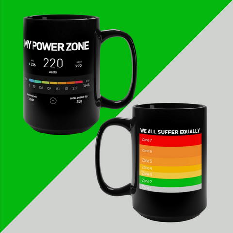MY POWER ZONE 2-sided Power Zone Black Coffee Mug