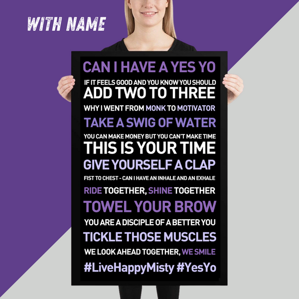 YES YO Poster 24x36 - Motivational Quotes