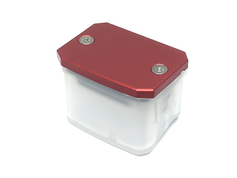 XP master cylinder cover red anodized