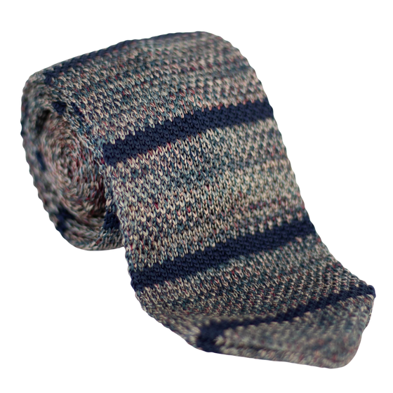 multi-colored knit tie
