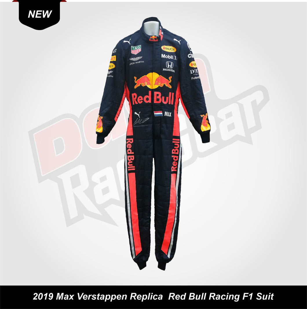 2019 Max Verstappen Replica Red Bull Racing F1 Suit