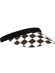 Ladies NASCAR Checkered Clip On Visor | Dash Racegear