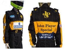 Carregar imagem no visualizador da galeria, Ayrton Senna 1985 racing suit Replica / Team Lotus F1