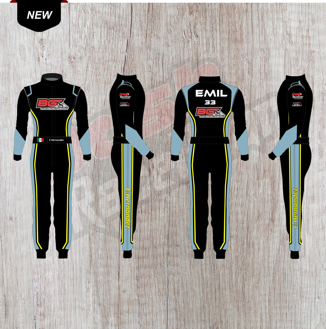 E.hernandez Customized Karting Sublimation Printed Suit