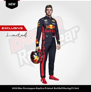 Max Verstappen Replica Red Bull Racing F1 Suit 2018
