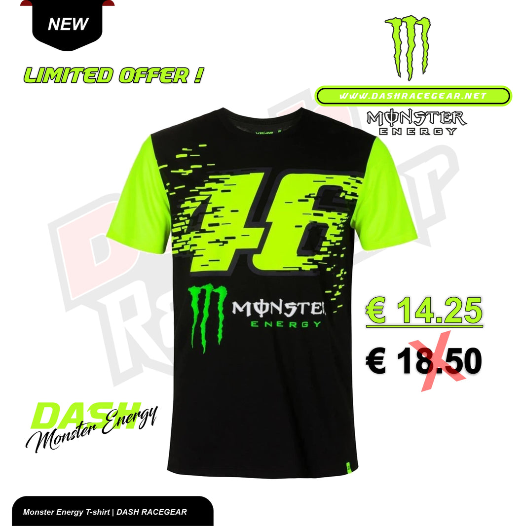 VALENTINO ROSSI VR46  MONSTER ENERGY T-SHIRT