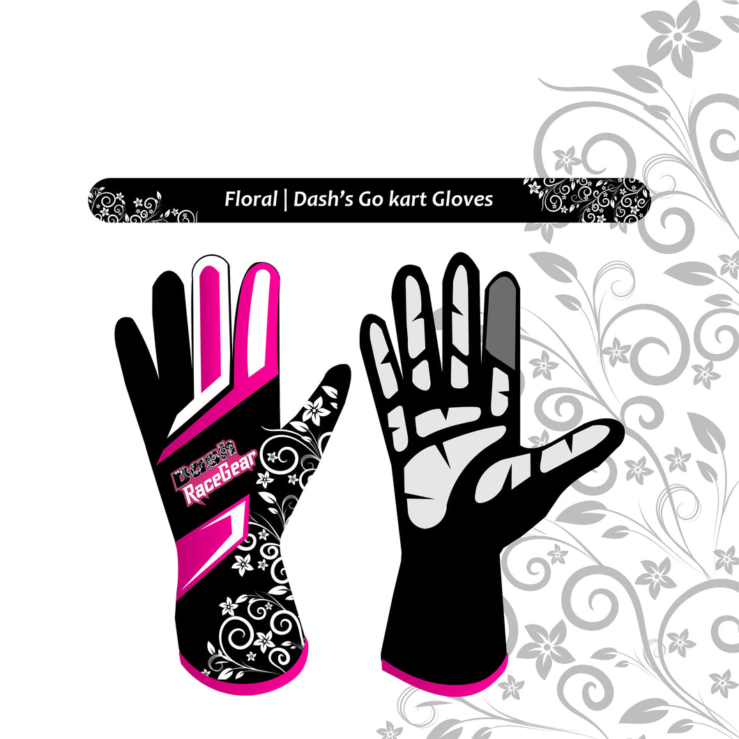 Dash Floral Kart gloves