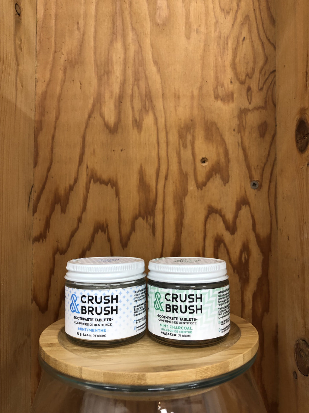 Nelson Naturals Crush and Brush Toothpaste Tablets- 80 tab jar