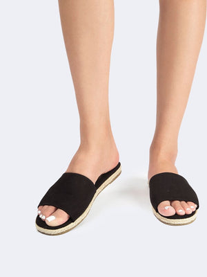 Espadrille Slide Sandals