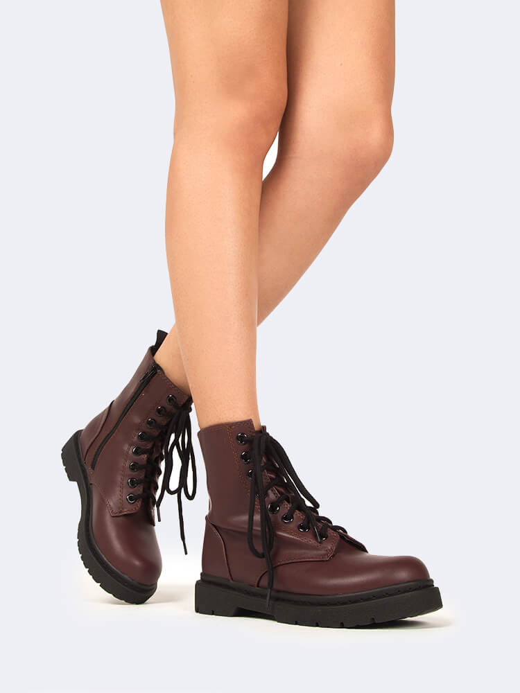 Harley Lace Up Combat Boot