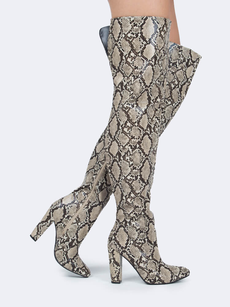 Over the Knee Snake Boots