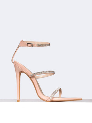 Bedazzled Double Strap Heel